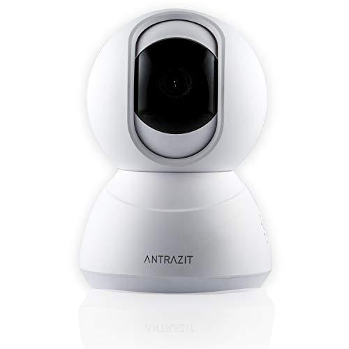 ANTRAZIT IP Kamera Indoor WLAN - 720P HD WiFi Überwachungskamera, Baby und Haustier Monitor mit Zwei-Wege-Audio, IR Nachtsicht, Bewegungsmelder, Alexa Kompatibel - Fernalarm und Mobile App Kontrolle