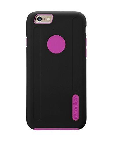 Melkco Kubalt Double Layer Case für Apple iPhone 6 weiß/schwarz Schwarz/Rosa 1