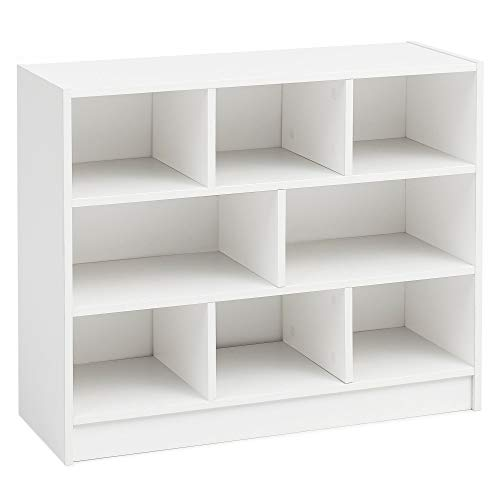 FineBuy Bücherregal FB14533 Weiß 80x68,5x29,5 cm Regal Standregal Modern | Flurregal Schuhregal...