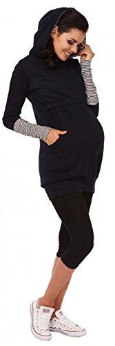 Zeta Ville - Sweat-shirt allaitement maternité détails contraste - femme - 137c Marine