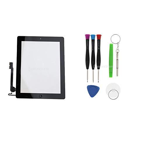 F Fityle Front Touchscreen Digitizer Digital Panel Multi-Touch Bildschirm LCD Ersatzteile für Apple iPad 4 A1458