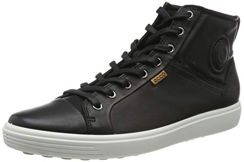 Ecco Damen SOFT7W High-Top, Schwarz (BLACK 1001), 42 EU