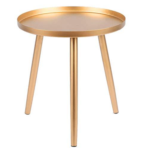 Table d'appoint Table basse en métal, table d'appoint de canapé de salon moderne Petite table à manger Table de chevet de chambre à coucher (Color : Gold, Size : 36 * 36 * 38cm)