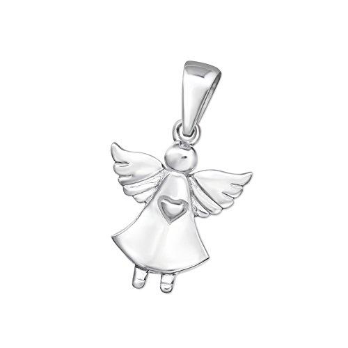 Schutz-Engel Ketten-Anhänger 925 Silber für Kinder, Damen, Jugendliche Mädchen 15mm klein