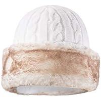 Mountain Warehouse Gorro con Piel sintética para Mujer: cálido, con Forro Polar - para Mantener la Cabeza Caliente y aislada Cuando Hace frío Durante el Invierno Crema Talla única