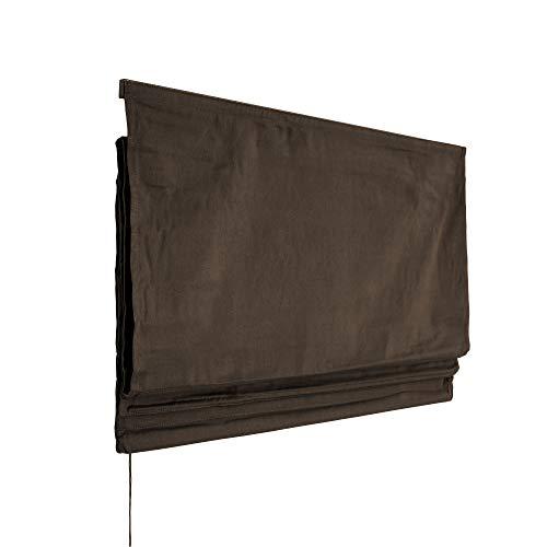 VICTORIA M Klemmfix Raffrollo ohne Bohren, 100 x 175cm, braun