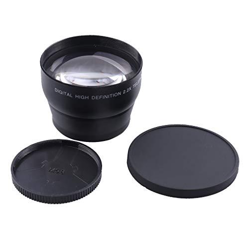 perfk 58mm 2.2X Teleobjektiv Telekonverter für Nikon Sony Canon usw.