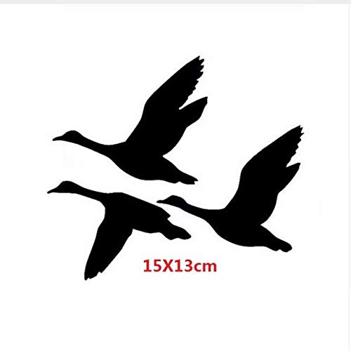 Chi Wall Sticker Enten Fliegen Wandaufkleber Aufkleber Kreative Vogel Jagd Wasservögel Motorrad Auto Aufkleber 15X13 cm