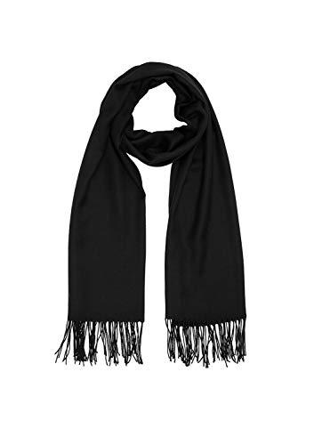 s.Oliver Damen 39.912.91.6426 Mütze, Schal & Handschuh-Set, Schwarz (Grey/Black 9999), One Size (Herstellergröße: 1)