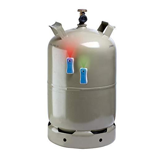 Gaslevel Füllstandsanzeige für Stahl Gasflaschen grau/blau -