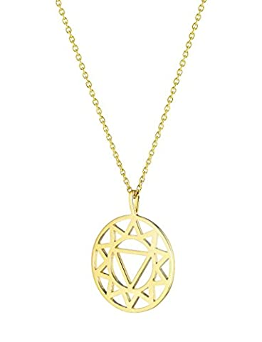 Daisy Gold Plated Solar Plexus Chakra Short Necklace