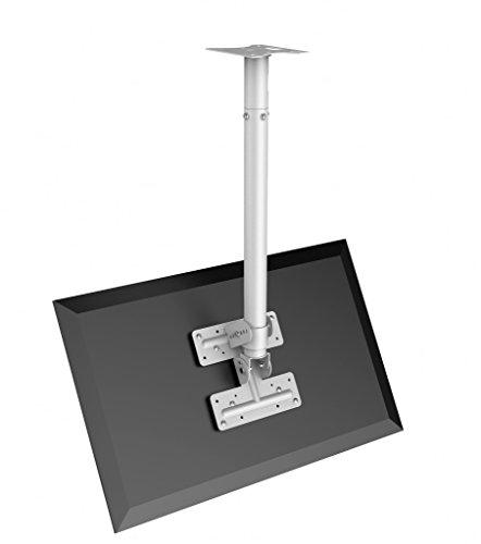 Vision Techmount TM-1200 Deckenhalterung mit Adapter für Flachbildschirme, Weiß Flat Panel Ceiling Mount