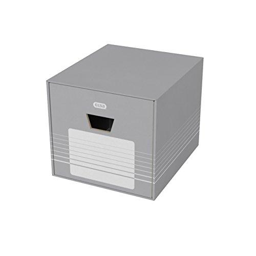 ELBA 400061160 Archivschublade tric 1 Stück Archiv-box mit Schublade für Hängeregistraturen, Ablageschachteln oder Ordner grau/weiß Ausfbewahrungs-Box Archiv-Box (Oxford Schublade Vier)