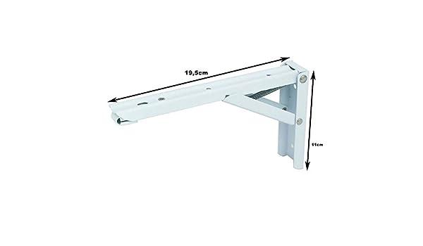 2 x Klappwinkel Klappkosole Winkel Regalwinkel 19,5x11x1cm Belasbarkeit 40 Kg