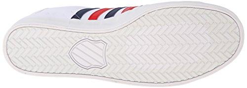 K-Swiss Belmont So T Herren Sneakers Weiß (WHITE/NAVY/RED 130)