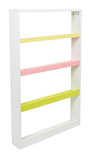 ts-ideen Estantería en blanco, rosa y verde escalera Estantería de pared NUEVO