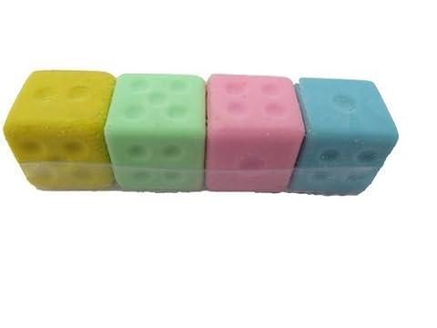 4 x Design Puzzle-lucky Dice zum farbenfrohen Radiergummis (nicht Iwako-Fat zufällige Farbe)-Catz-Copy-Catz