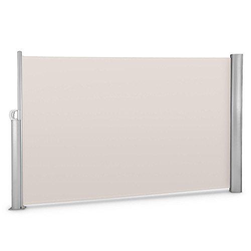 Blumfeldt bari 318 tenda a rullo laterale alluminio (300x180 cm, struttura robusta, kit di montaggio incluso) crema-sabbia