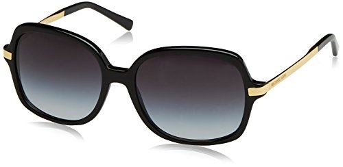 MICHAEL KORS Women's Adrianna II 316011 Sunglasses, Black/Lightgreygradient, 57