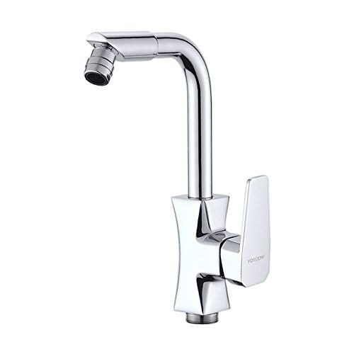 Preisvergleich Produktbild Faucet,  Hot and Cold Basin Faucet 360 ° Can Be Turned to The Bathroom Pedestal Washbasin Kitchen