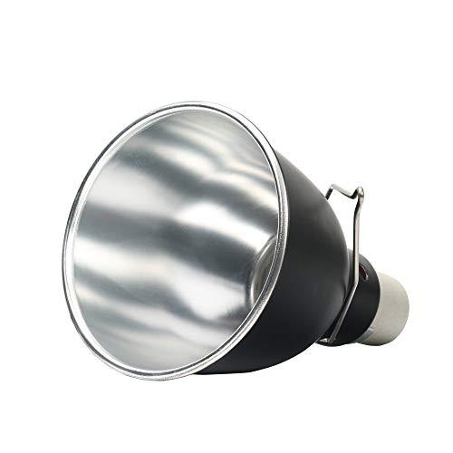 QNMM Dome Reptile Lampe Leuchte Mini Tiefe Dome Lampe Leuchte Optische Reflexion Abdeckung für Reptile Terrarien (Ohne Glühlampe),5.5inches