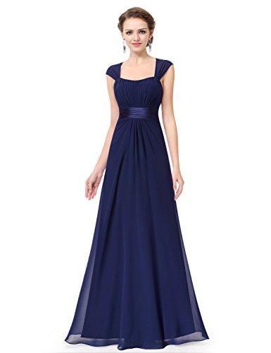 Ever Pretty Robe de Soirée Robe de la Demoisellle d'honneur Empire 08834 Bleu Marine