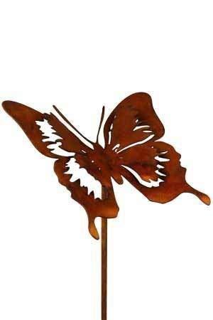 Rost Tier Schmetterling Filigran 52 cm Stecker
