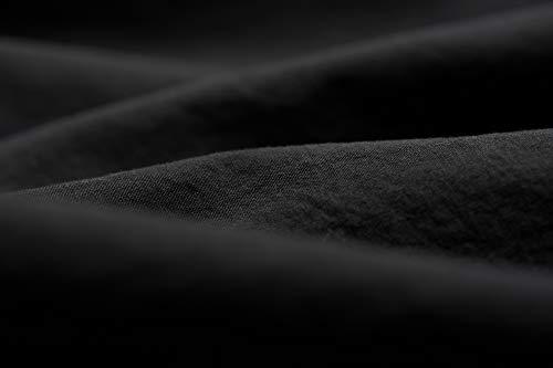 L1NK STUDIO Funda Almohada Cama de 90 cm 45X110cm 100% algodón Percal 200 Hilos Negro