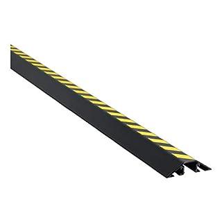 EHA Kabelbrücke Aluminium schwarz/gelb Signalstreifen, L 1500 mm, 1 Stück