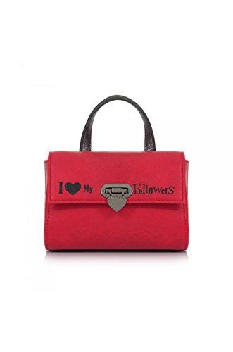 LE PANDORINE Borsa Twin Bag I love my Followers, AI17DBG02122 01, 19,5X15 cm Rosso