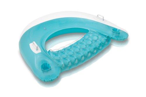 Intex 58859EU - Aufblasbarer Schwimmsessel, Sit N Float, 60 x 39 Zoll, farblich sortiert