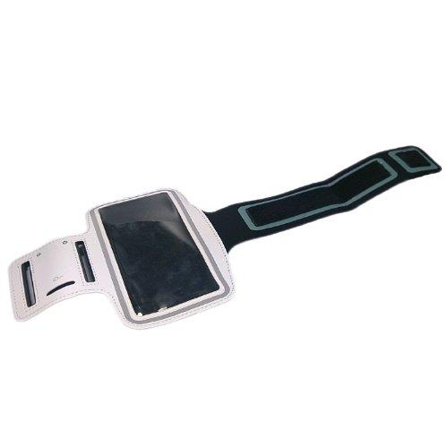handy-point XXXXXL Armhalter, Sportarmband Armband für Sport / Laufen / Joggen für iPhone 6 Plus, 6S Plus, Samsung S6, Samsung S6 Edge, S7 Edge, Samsung Galaxy Note 1, Note 2, Note 3, Note 4, Note 5,  Weiß - XXXXL Tasche