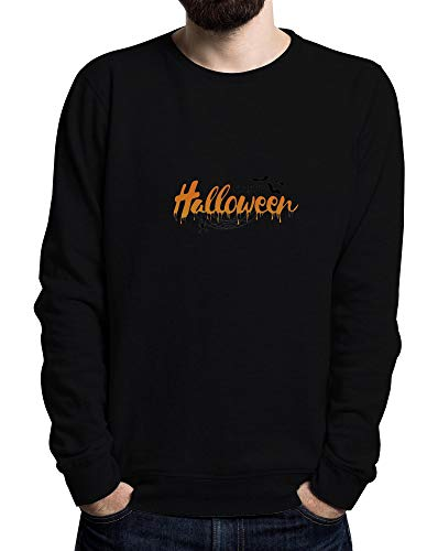 onster,Frightening Design, Halloween Party Men's Sweater Schwarz Medium ()