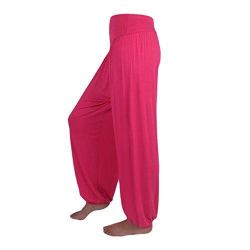 Pantalon Spandex Doux Modal Pantalon Harem Yoga Pilates Pants Lanterne Femmes SANFASHION(Chaud,L)