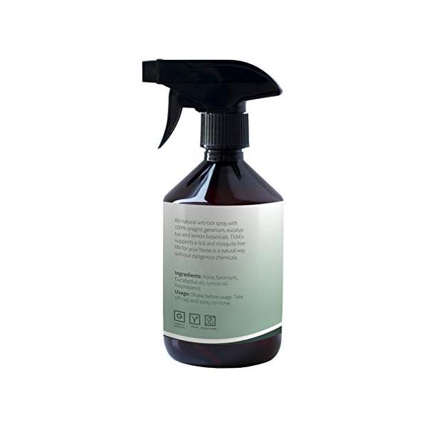 Flea and ticks repellent spray by TickEx | Flea treatment for cats, dogs & horses | Tick remover & flea spray 100ml | Flea treatment for the home 2