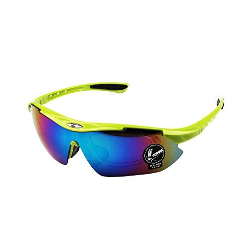 Sonnenbrillen Polarisierte Männer Frauen Unisex Fliegerbrille Coole Brille Sonnenbrille Herren Sunglasses Verspiegelt Outdoor Reiten Sport Fahren Tourismus Obst Grünen Rahmen Grünen Film Linse
