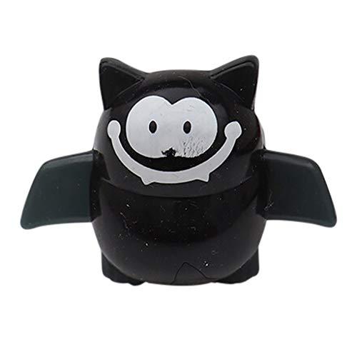 Lazzboy Halloween Gefälligkeiten für Kinder Preise Blinkende LED Gelee Leuchten Ringe Spielzeug(B) - Männer, Die Suite Black
