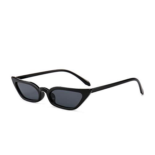 Yuanz Mode Cat Eye Sonnenbrille Designer Marke Schmale kleine transparente Rahmen Sonnenbrille Uv400,Q.