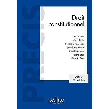 Droit constitutionnel 2019: Édition 2019