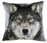 Hochwertiges Samtkissen Wolf 43 x 43 cm incl. Füllung von Evans Lichfield