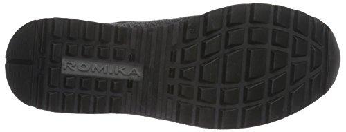 ROMIKA Romana 01, Baskets Basses Femme Noir - Schwarz (schwarz-grau 144)