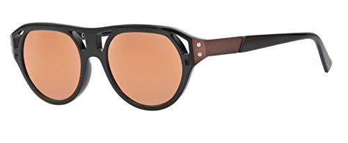 Diesel sunglasses dl0233 j51 01x, occhiali da sole uomo, nero (schwarz), 51