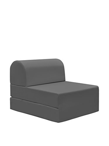 13casa - petra a1 - pouff chaise longue trasformabile. dim: 59x72x53 h cm. col: grigio. mat: ecopelle.