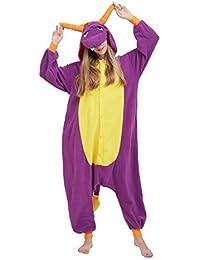 f617fabb16 Fandecie Tier Kostüm Tierkostüm Tier Schlafanzug Drache Pyjamas Jumpsuit  Kigurumi Damen Herren…