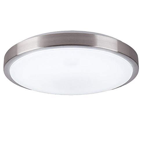 ledmomo Lampe encastré au plafond de 40 cm 18 W ronde Lumière de plafond style minimaliste LED Panneau Lumière Salle couloir à encastrer au plafond - Lumière blanche (Argent)