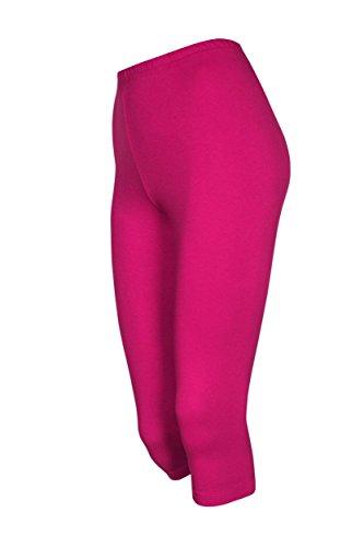 2 Stück Kinder 3/4-Squash-Shorts, Pink, 122