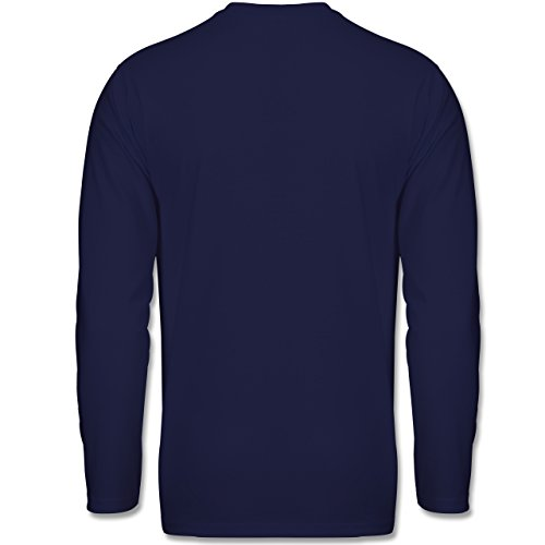 Statement Shirts - Wine is fine but whisky's quicker - Longsleeve / langärmeliges T-Shirt für Herren Navy Blau