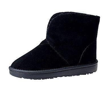 RTRY Scarpe Donna Pu Fall Winter Snow Boots Fashion Stivali Stivali Tacco Piatto Round Toe Stivaletti/Stivaletti Per Outdoor Casual Arrossendo Rosa US8.5 / EU39 / UK6.5 / CN40