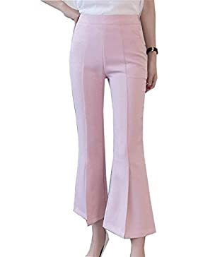 Targogo Colpo Pantaloni Donna Estivi Fashion High Waist Skinny Lunghi Pantaloni Eleganti Monocromo Accogliente...