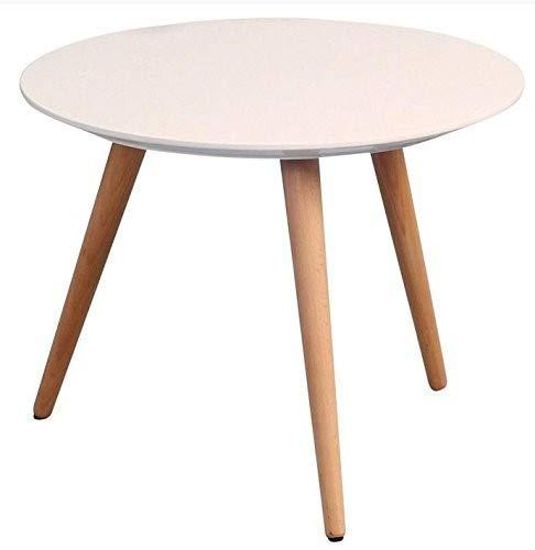 HomeTrends4You 172926 Couchtisch, Höhe 36 cm/Durchmesser 50 cm, weiß matt